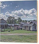 Nevada City Ghost Town - Montana Wood Print