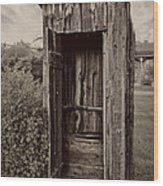 Nevada City Ghost Town Outhouse - Montana Wood Print