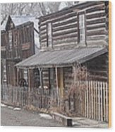 Nevada City Mt Wood Print by Yvette Pichette