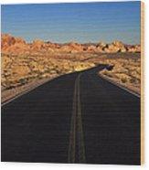 Nevada. Desert Road Wood Print