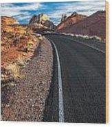 Nevada Highways Wood Print