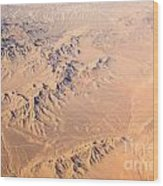 Nevada Mountains Aerial View Wood Print