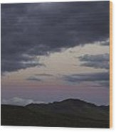 Nevada Skies Over Red Mountain Wood Print