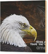Never Forget - Memorial Day Wood Print