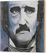 Never More - Poe Wood Print