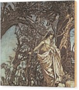 Never So Weary Never So Woeful Illustration To A Midsummer Night S Dream Wood Print