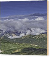 Never Summer Mtns In Clouds Wood Print by Tom Wilbert