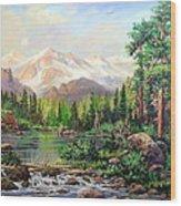 Never Summer Range Wood Print by W  Scott Fenton