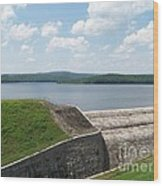 Neversink Reservoir Dam Wood Print