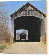 Nevins Covered Bridge Wood Print