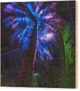 New Age Tropical Palm Wood Print