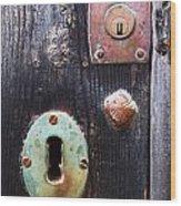New And Old Locks Wood Print