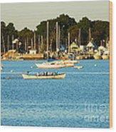New Bedford Pier Wood Print
