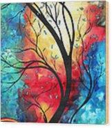 New Beginnings Original Art By Madart Wood Print by Megan Duncanson