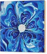New Blue Glory Flower Art - Buy Prints Wood Print