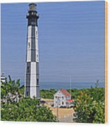 New Cape Henry Lighthouse Vertical Wood Print