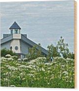 New Church In Ninilchik-ak  Wood Print