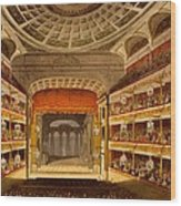 New Covent Garden Theatre Wood Print