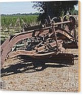 New Crop Antiquated Grader Wood Print