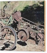New Crop Antiquated Plow Wood Print