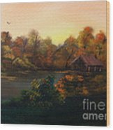 New Day In Autumn Sold Wood Print by Cynthia Adams