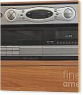 New Dvr With Old Vcr Wood Print