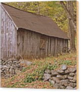 New England Barn Wood Print
