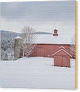 New England Barns Wood Print