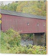New England Covered Bridge Wood Print