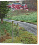 New England Farm Wood Print by Bill Wakeley