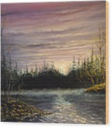 New England Fishing Spot Wood Print
