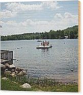 New England Lake Vacation Wood Print