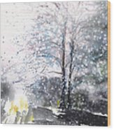 New England Landscape No.222 Wood Print by Sumiyo Toribe