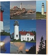 New England Lighthouse Collection Wood Print by Juergen Roth