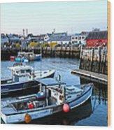 New England Wood Print