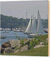 New England Seascape Wood Print