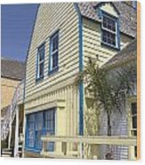 New England Style Building At Fisherman's Village Marina Del Rey Los Angeles Wood Print