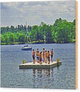 New England Watersports Wood Print