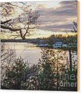 New England Winter Sunset Wood Print