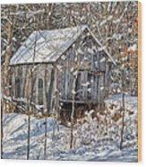 New England Winter Woods Wood Print