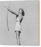New Fad Archery Golf Wood Print
