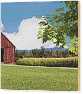 New Hampshire Barnyard Wood Print