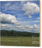 New Hampshire Blue Sky  Wood Print