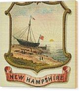 New Hampshire Coat Of Arms - 1876 Wood Print