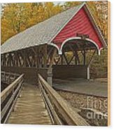 New Hampshire Covered Bridge Wood Print