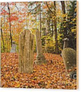 New Hampshire Mountain Cemetery Wood Print