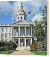 New Hampshire State Capitol Wood Print