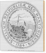 New Hampshire State Seal Wood Print