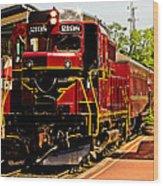New Hope Ivyland Railroad With Cars Wood Print