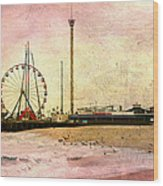 New Jersey Boardwalk Bird Feeder Wood Print
